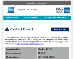 American Express Scam Email